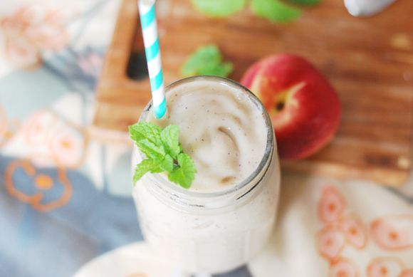 Melon & Peach Creamsicle Smoothie #healthy #drink #smoothie # ...