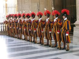 The Swiss Guard at the Vatican, still wear uniforms designed by Michaelangelo.