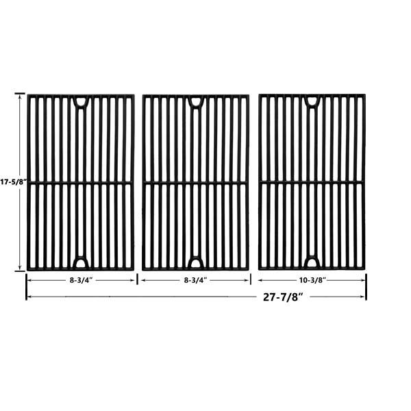 3 PACK CAST IRON REPLACEMENT COOKING GRIDS FOR BRINKMANN 7231, 810-1415F AND GRILL KING 810-9325-0 GAS GRILL MODELS Fits Compatible Brinkmann Models : 7231, 810-1415F, 810-1470, 810-1470-0, 810-7231-W, 810-8300, 810-8300-W, 810-9400-0, 810-9419, 810-9419-1, 810-9425-W, 810-9520-S, Portland 8300, Pro Series 810-9400-0 Read More @http://www.grillpartszone.com/shopexd.asp?id=34022&sid=17209