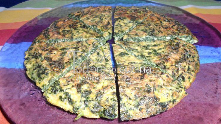 Frittata di spinaci La ricetta qui: http://www.duetortoreincucina.com/it/recipes/second-course-primi-piatti/italiano-frittata-di-spinaci/