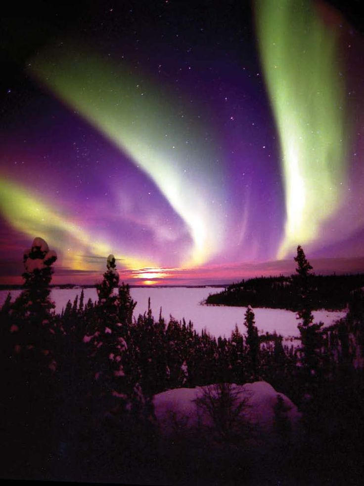 Northern Canada - where the Aurora Borealis puts on world's most spectacular light show.