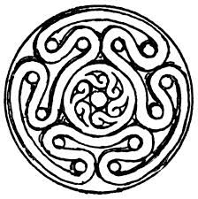 Hekate's symbol...Hekate probably originated in Caria. Apparantly the spinning symbol was used to alter conciousness. I feel another tattoo coming on...Often shown as a crone she was originally portrayed as young and beautiful ...