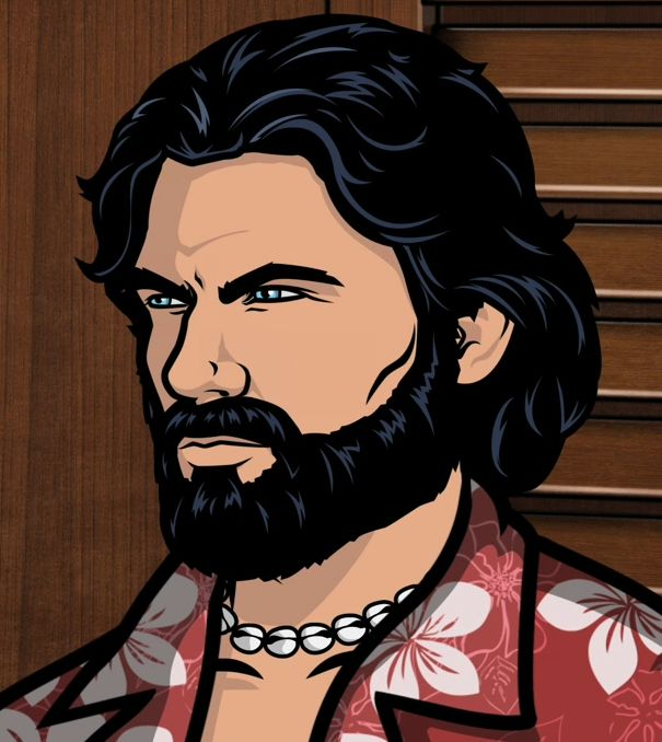 Sterling Archer with a beard. He might be fictional, but... beard. :3