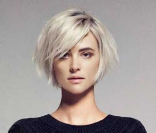 Chic Bob Ideas with Side Swept Bangs