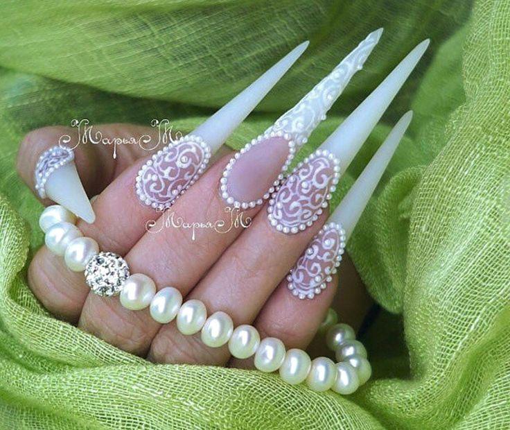 106 best uñas de novia images on Pinterest | Bride nails, Brides and ...