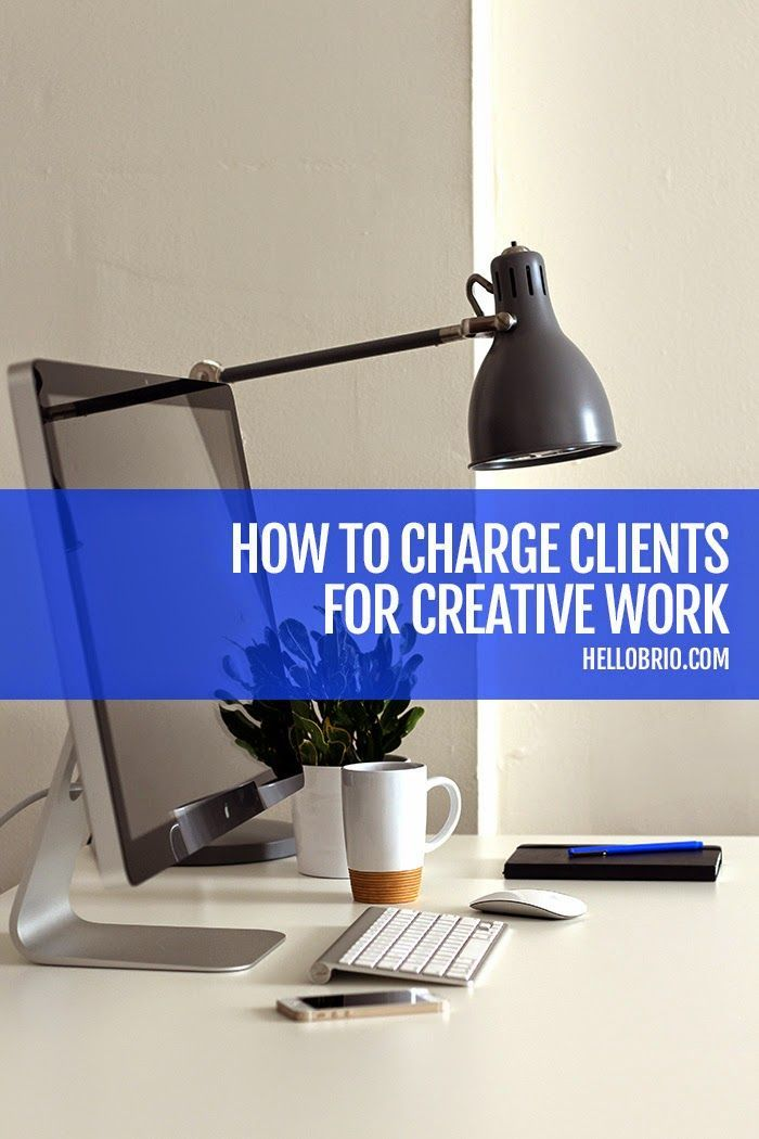 How to Charge our Clients for Creative Work - Freelance and Business Advice on HelloBrio.com via @jnnfrcyl