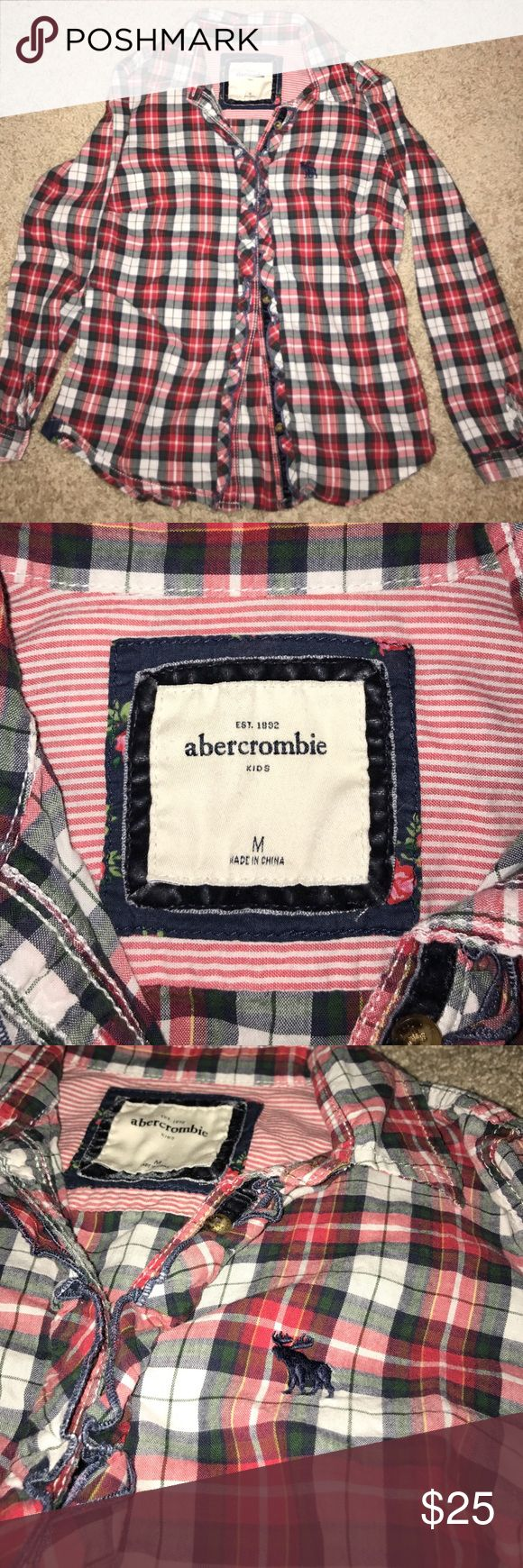 Abercrombie Kids red plaid shirt. Size M red/green/navy blue plaid shirt from Abercrombie Kids. Size Medium. Well taken care of. abercrombie kids Shirts & Tops Button Down Shirts