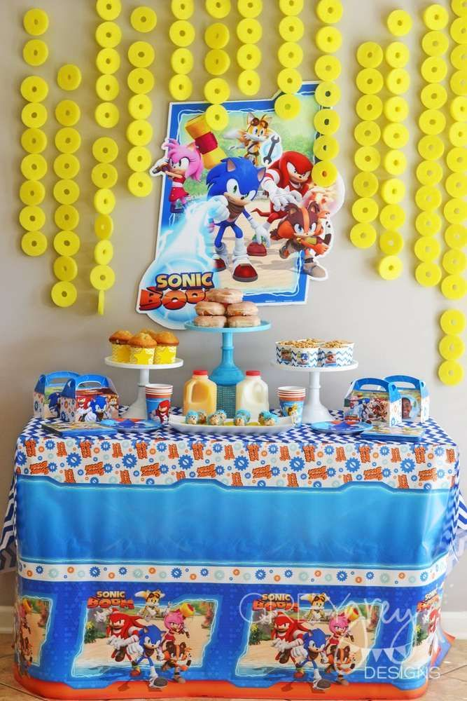 Amazing Sonic the Hedgehog birthday party! See more party ideas at CatchMyParty.com!