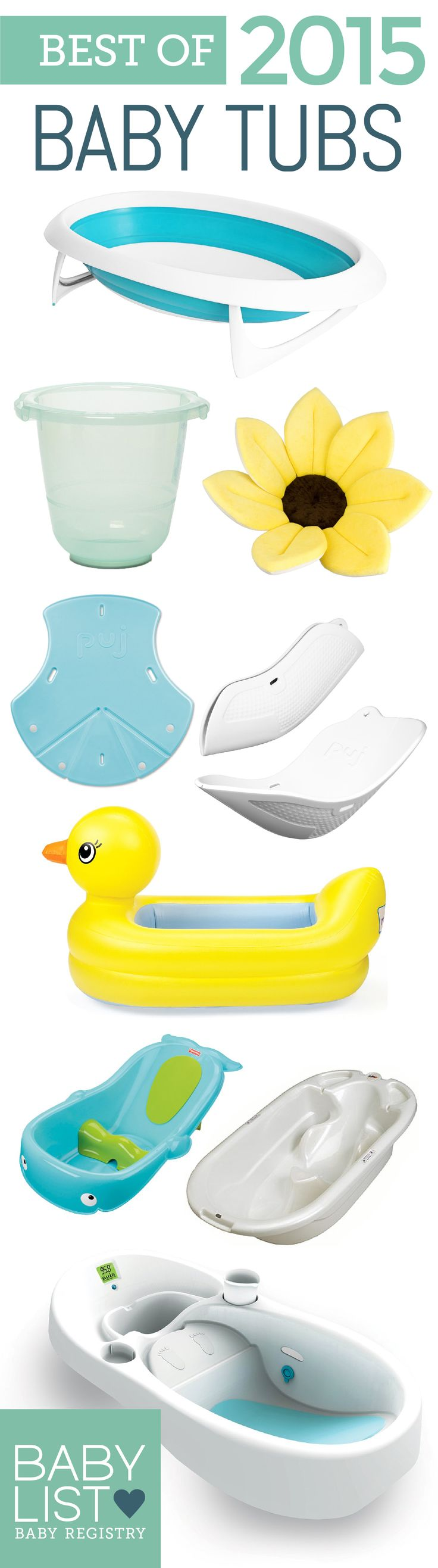 Find the best tub for you. Start with the best 8 baby bathtubs of 2015 - based on our own research + input from thousands of parents. Use this guide to help you figure out the best baby bathtub for your family's needs and priorities.