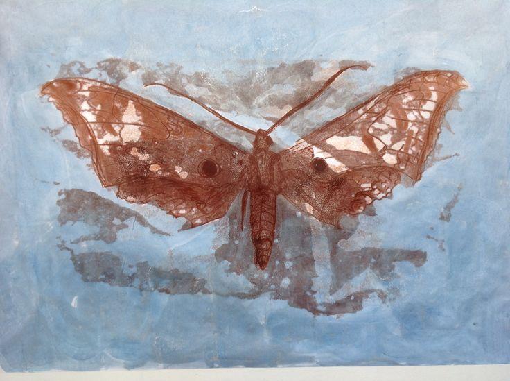 2015 Mono print and pigment, by Jane Rusden