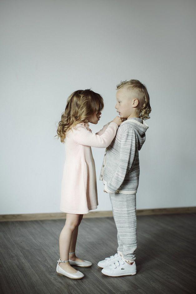 Ruffle collar pale rose dress - Ingugu - Sukienki dla dziewczynek