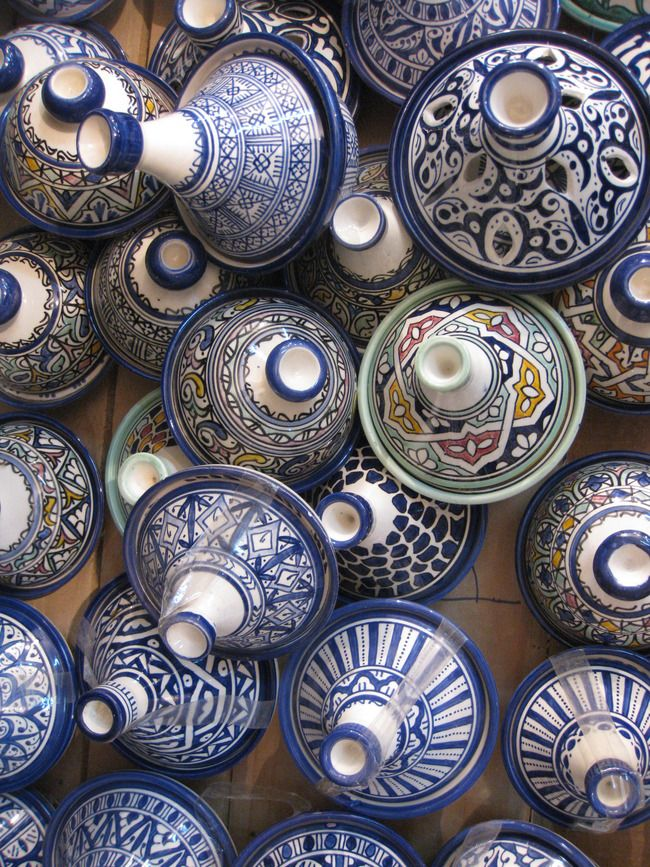 Fes, Fes, Morocco A must to buy when I go there because I love the blue collection in pottery.