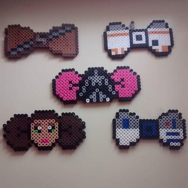 Star Wars bows perler beads by  taffyturttle
