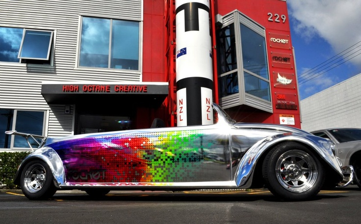 I Love This Chrome Wrap Specially With The Print On It