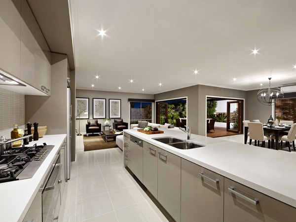 d eight | Home Designs | Eight Homes  Love this layout, open plan and kitchen