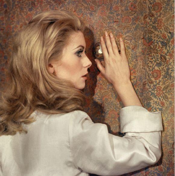 """Catherine Deneuve, 1966, """"Belle de jour"""" directed by Luis Bunuel, photo by Raymond Voinquel."""