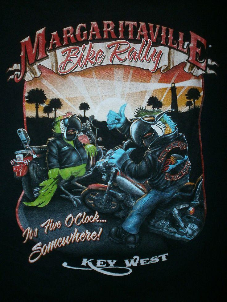 Parrothead Biker T Shirt Jimmy Buffett Margaritaville Bike Rally Key West LG   eBay