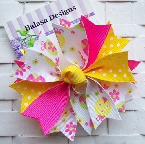 Boutique Spring Fling Ladybugs Spike Hair Bow by Balasadesigns, $3.75