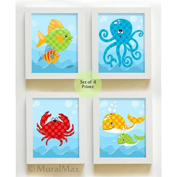 Ocean Dreams Boy vivero arte mar vida criaturas niños por MuralMAX
