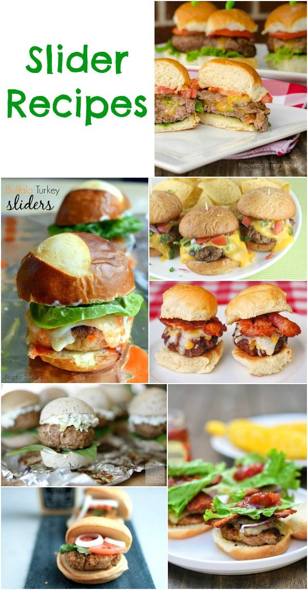 Slider Recipes - mini hamburgers perfect for a summer party, BBQ and party appetizers.