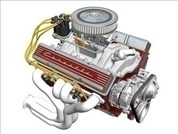 Chevrolet V8 Engine 3d Model Flatpyramid Engineering V8
