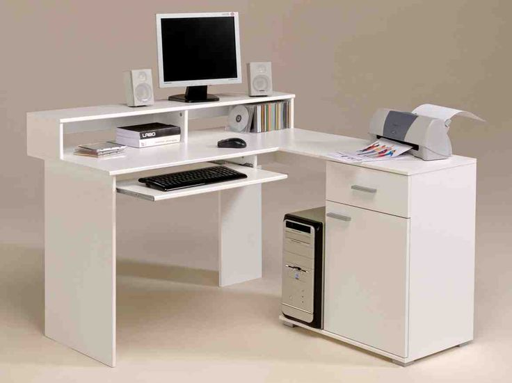 High Quality Peerless Corner Desk With File Cabinet Also Computer Desk Raised Monitor  Shelf And Canon Printer Bjc