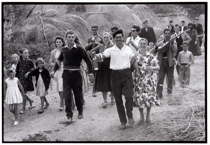"""Constantine Manos Greece. Thrace. 1964. Wedding procession. """"A Greek Portfolio"""" p.78 © Costa Manos/Magnum Photos"""