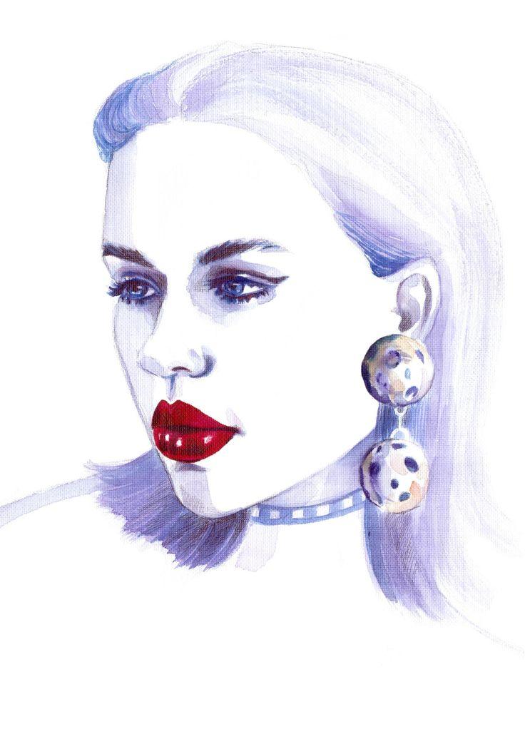 Egith Van Dinther | Fashion Model | Watercolor Illustration | Sinestezic