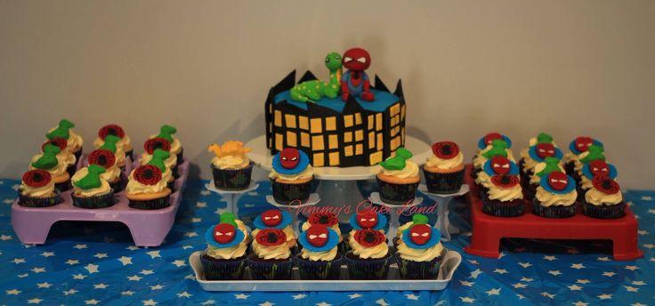 spiderman and dinosaur theme