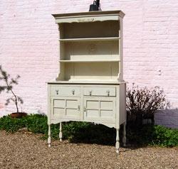 Vintage Shabby Chic Painted Oak Dresser For Uk