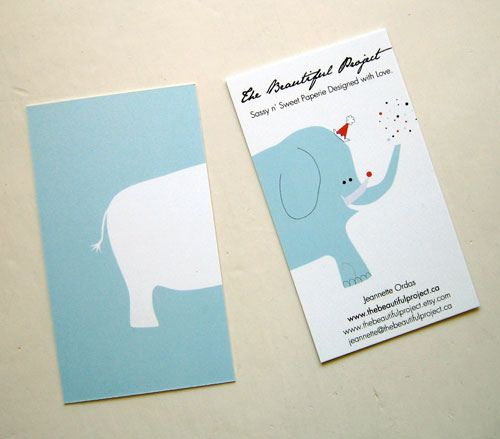 I really like the reversible, continuous nature of this business card. It's quirky and fun, and works well with the illustrative style. The minimal colour palette works well.