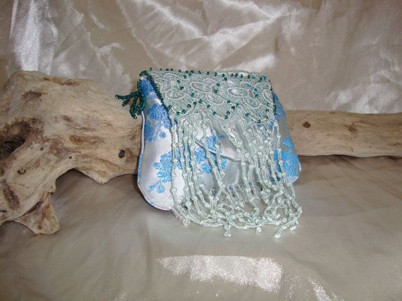 Lace Appliqued Bag by OneGoldenCloud on Etsy
