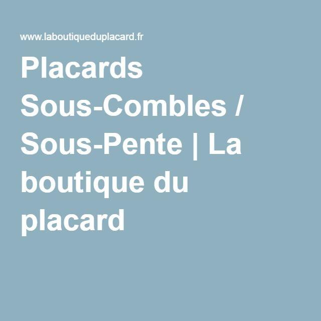 Placards Sous Combles / Sous Pente   La Boutique Du Placard