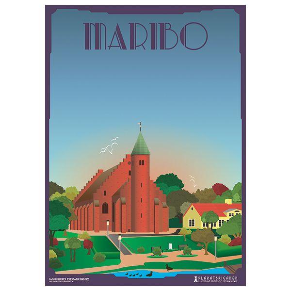Limited edition plakat af Maribo Domkirke