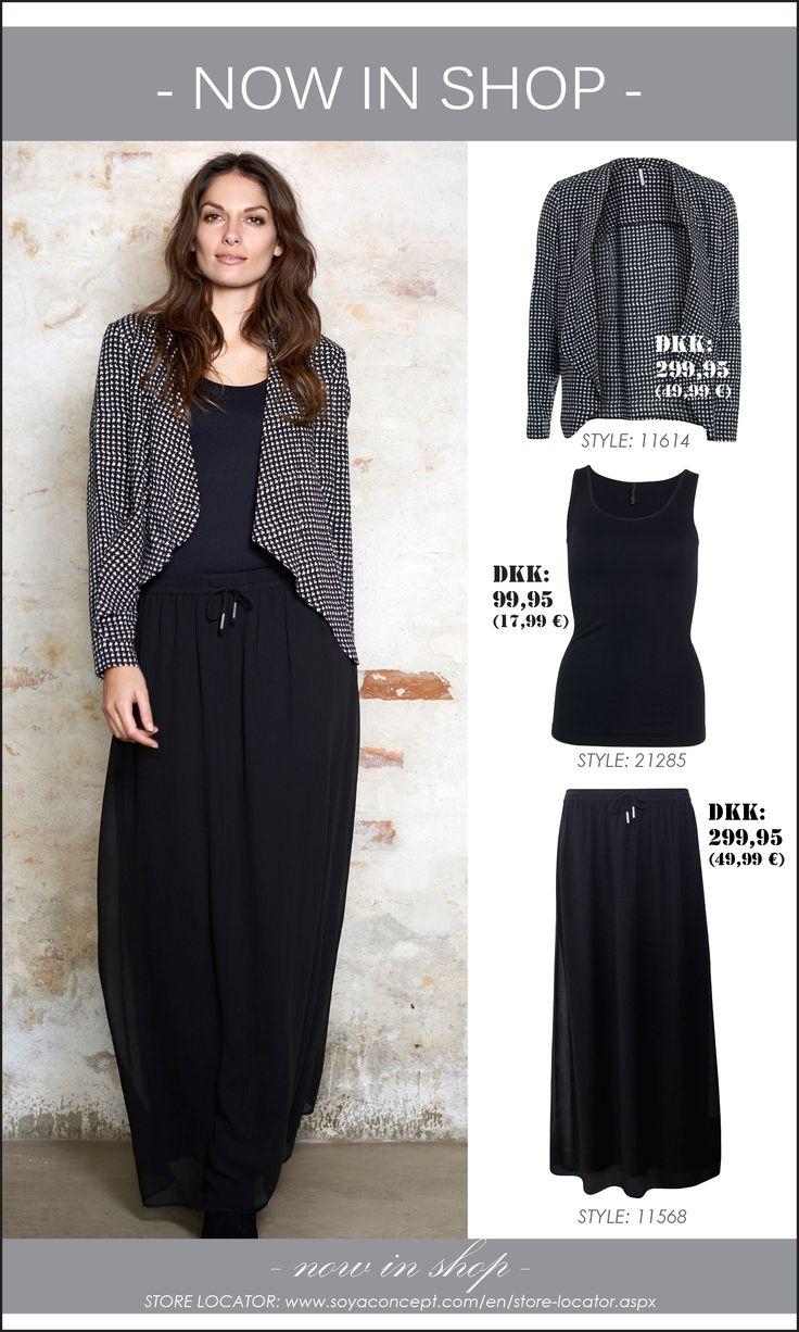 soyaconcept - cardigan - blazer - jacket - top - blouse - skirt - black