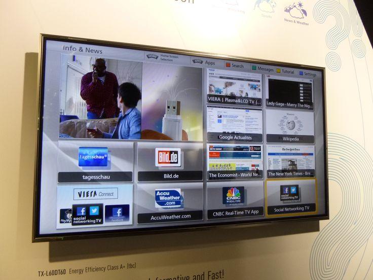 Improved apps of the Panasonic ZT60 plasma TV