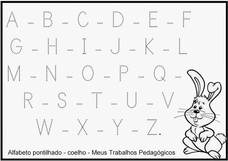 alfabeto pontilhado caixa alta para imprimir - Pesquisa Google