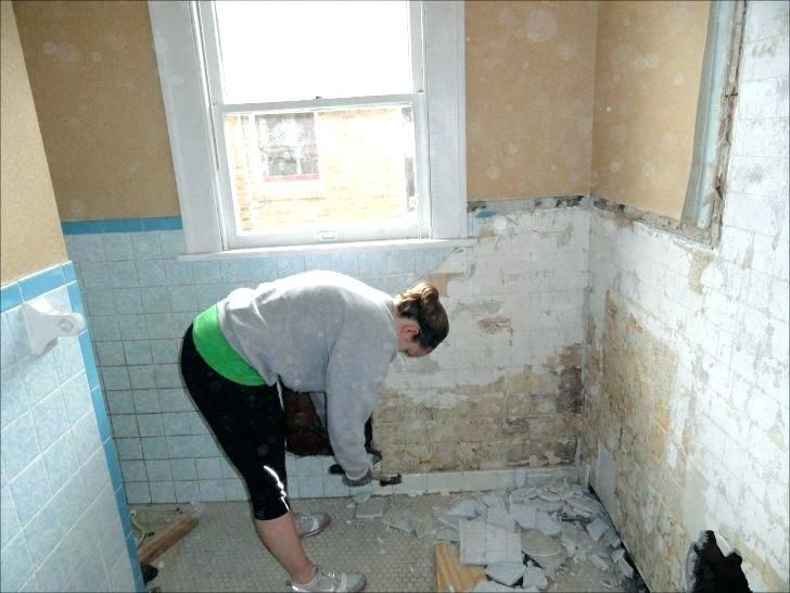 how to remove tile from walls in bathroom