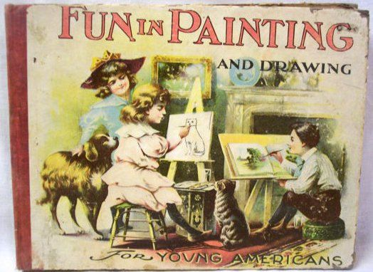antique childrens book fun in painting and by vintagebarrel 3200 - Kids Paint Book