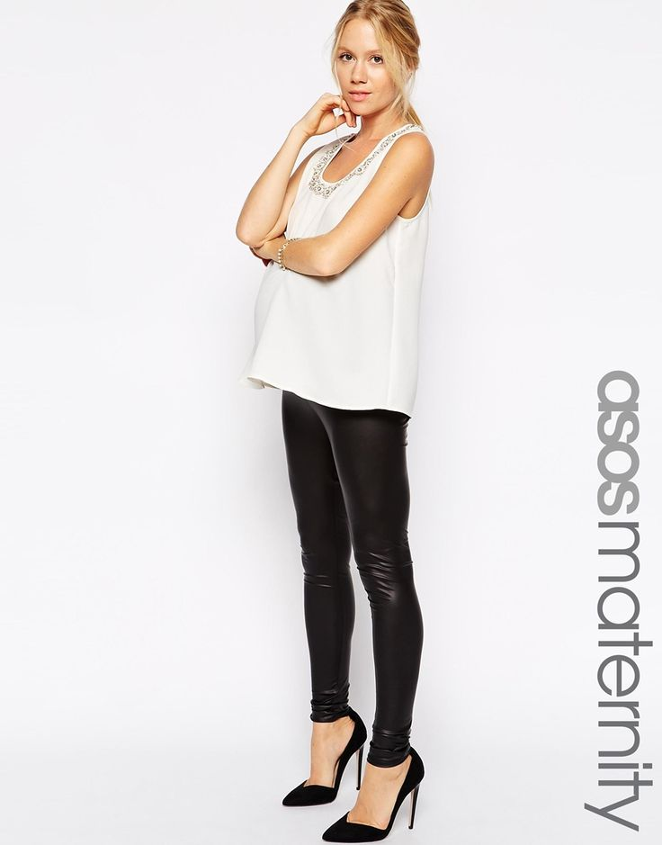 ASOS Maternity Leather Look Legging   Panzonas