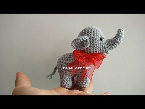 CANAL CROCHET: Elefante amigurumi tutorial