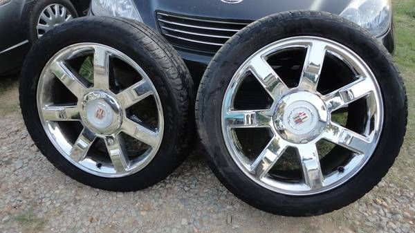 "Rims and tires for 2010 Cadillac Escalade ESV 22"" original (Pelham) $1250"