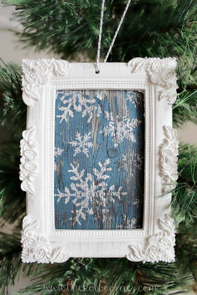 Make this framed scrapbook paper ornament in less than 15 minutes, and under $10.