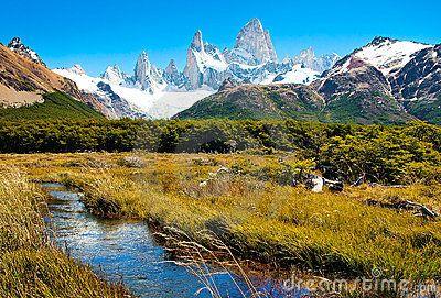 Paisaje hermoso de la naturaleza en el Patagonia, la Argentina