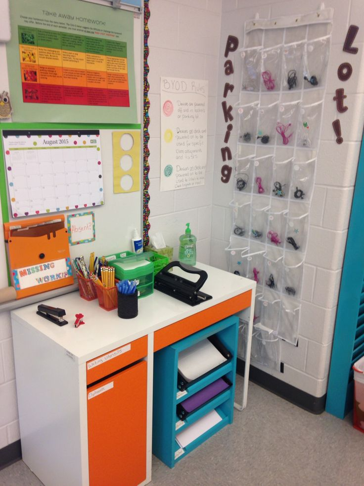 Classroom Mobiles Ideas : Student supply center absent work board and a parking lot