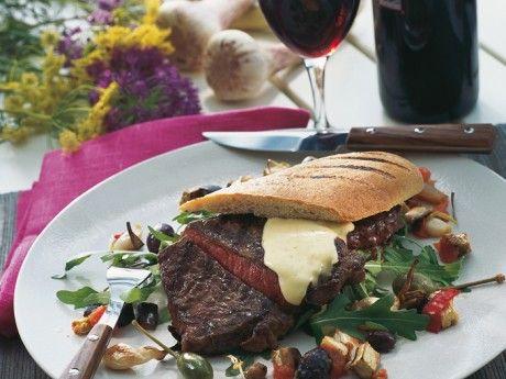 Utskuren biff med Ugnsbakade grönsaker Receptbild - Allt om Mat