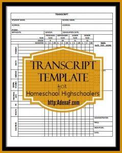 Homeschooling High School: Transcripts and Portfolios - AdenaF