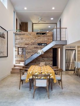 Modern and reclaimed together   Reclaimed Wood Feature Wall Design Ideas, Pictures, Remodel and Decor