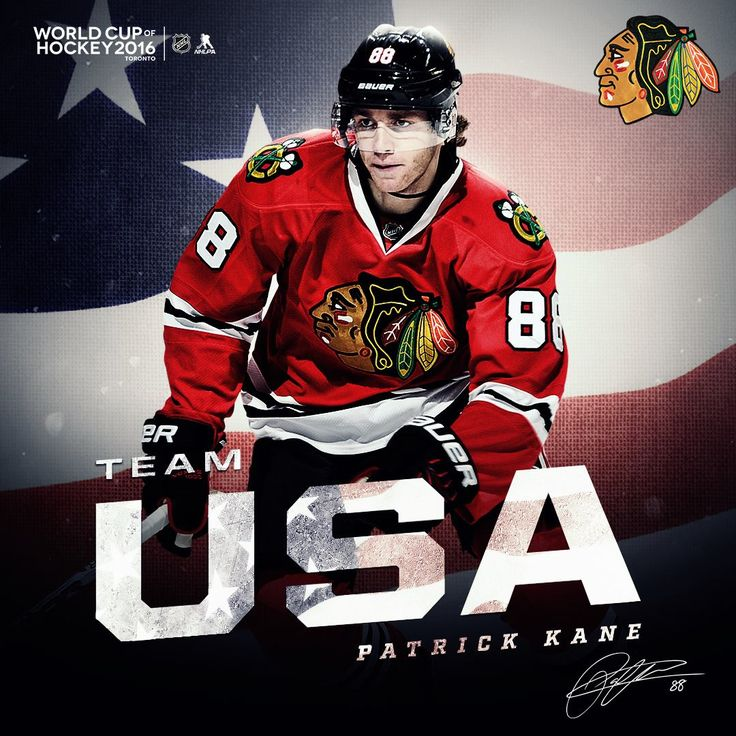Patrick Kane will play on Team USA in the 2016 World Cup of Hockey! #Blackhawks