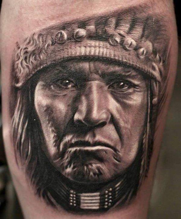Great White Buffalo Native American Headdress Tattoo: 25+ Best Ideas About Native American Tattoos On Pinterest